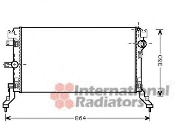 Radiateur, refroidissement du moteur - VAN WEZEL - 43002418