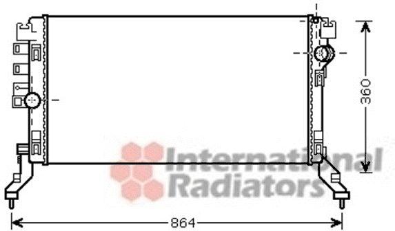 Radiateur, refroidissement du moteur - VAN WEZEL - 43002419
