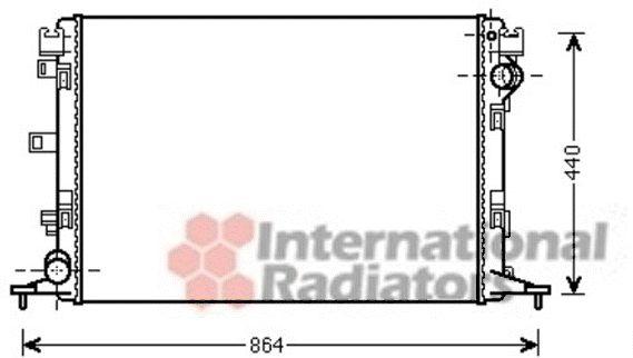 Radiateur, refroidissement du moteur - VWA - 88VWA43002420