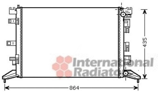 Radiateur, refroidissement du moteur - VAN WEZEL - 43002425