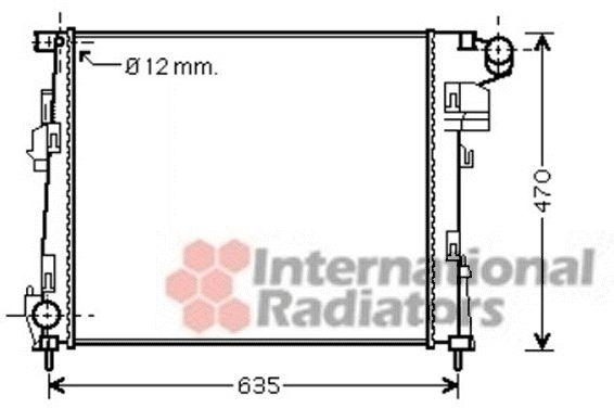Radiateur, refroidissement du moteur - VAN WEZEL - 43002427