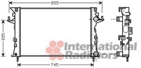 Radiateur, refroidissement du moteur - VAN WEZEL - 43002438
