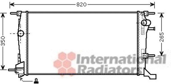 Radiateur, refroidissement du moteur - VAN WEZEL - 43002445