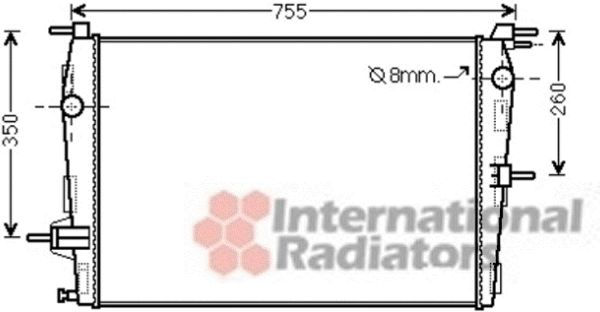 Radiateur, refroidissement du moteur - VAN WEZEL - 43002458