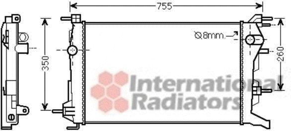 Radiateur, refroidissement du moteur - VAN WEZEL - 43002460