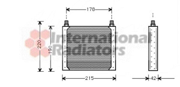 Radiateur d'huile - VAN WEZEL - 43003146