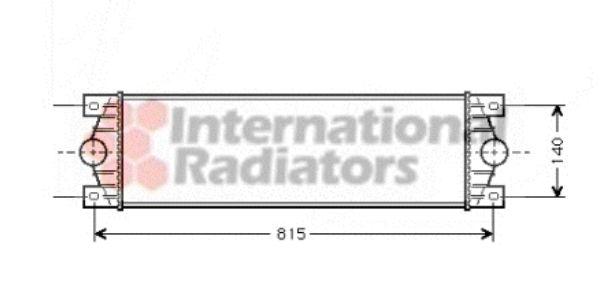 Intercooler, échangeur - VAN WEZEL - 43004089