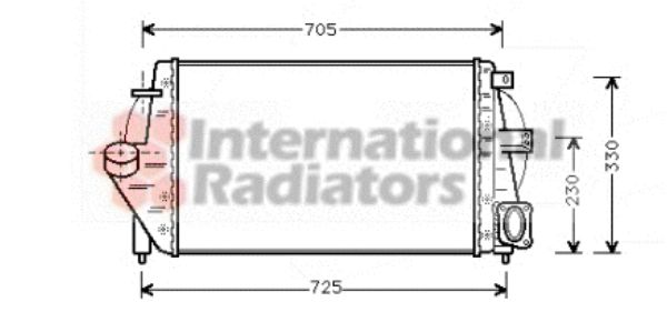 Intercooler, échangeur - VAN WEZEL - 43004212