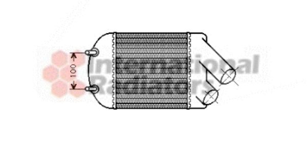 Intercooler, échangeur - VAN WEZEL - 43004222