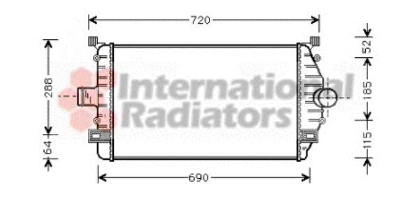 Intercooler, échangeur - VAN WEZEL - 43004277