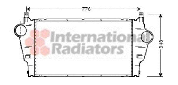Intercooler, échangeur - VAN WEZEL - 43004295