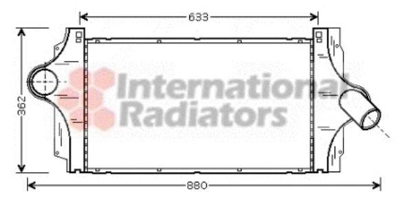 Intercooler, échangeur - VAN WEZEL - 43004296