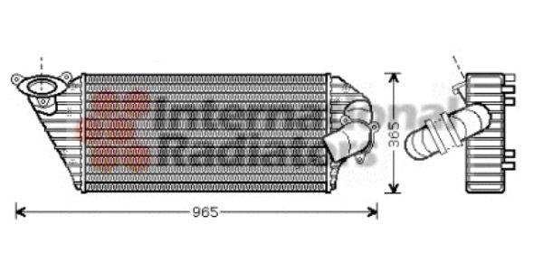Intercooler, échangeur - VAN WEZEL - 43004298