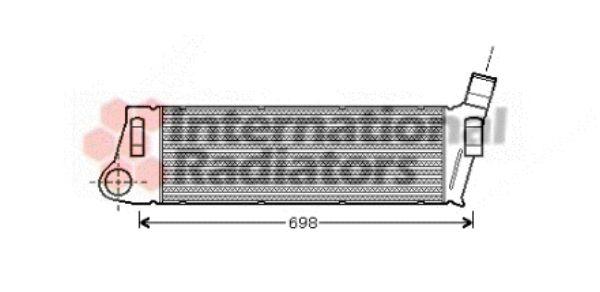 Intercooler, échangeur - VAN WEZEL - 43004316