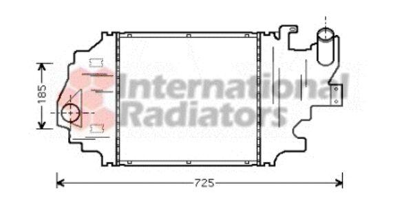 Intercooler, échangeur - VAN WEZEL - 43004320