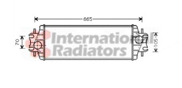 Intercooler, échangeur - VAN WEZEL - 43004328