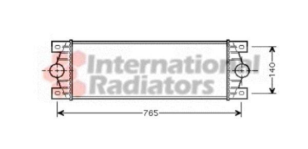 Intercooler, échangeur - VAN WEZEL - 43004329