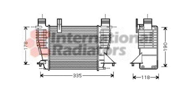 Intercooler, échangeur - VAN WEZEL - 43004338