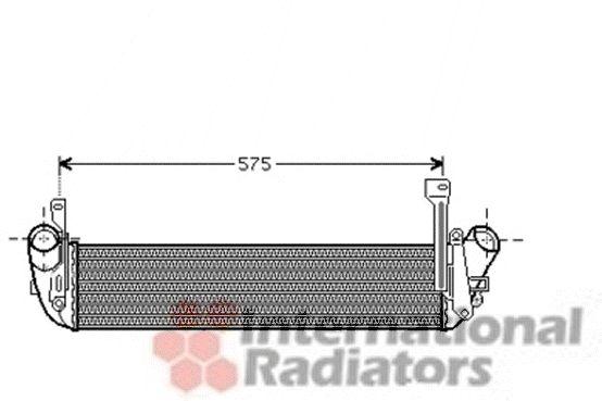 Intercooler, échangeur - VAN WEZEL - 43004346