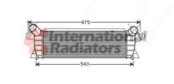 Intercooler, échangeur - VAN WEZEL - 43004351