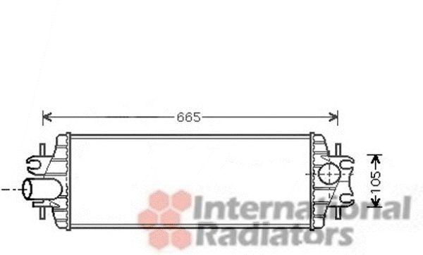 Intercooler, échangeur - VAN WEZEL - 43004358