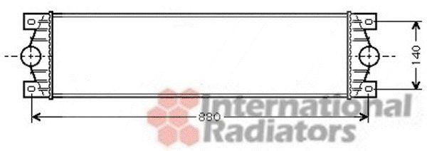 Intercooler, échangeur - VAN WEZEL - 43004359