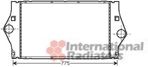 Intercooler, échangeur - VAN WEZEL - 43004363