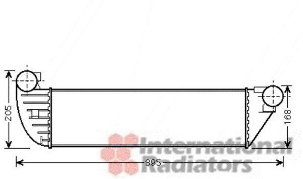 Intercooler, échangeur - VAN WEZEL - 43004390