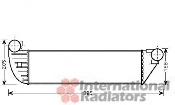 Intercooler, échangeur - VAN WEZEL - 43004397