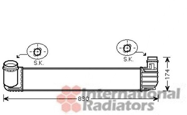 Intercooler, échangeur - VAN WEZEL - 43004411