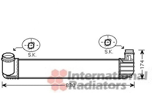 Intercooler, échangeur - VAN WEZEL - 43004413
