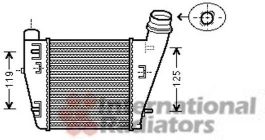 Intercooler, échangeur - VAN WEZEL - 43004423