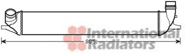 Intercooler, échangeur - VAN WEZEL - 43004426