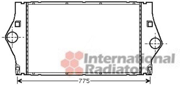 Intercooler, échangeur - VAN WEZEL - 43004447