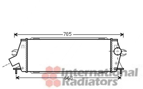 Intercooler, échangeur - VAN WEZEL - 43004456