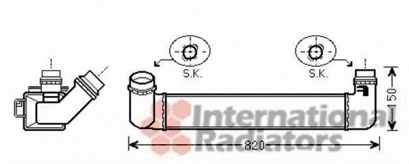 Intercooler, échangeur - VAN WEZEL - 43004461