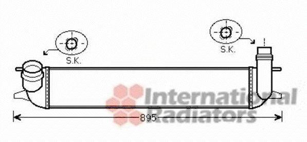 Intercooler, échangeur - VAN WEZEL - 43004462