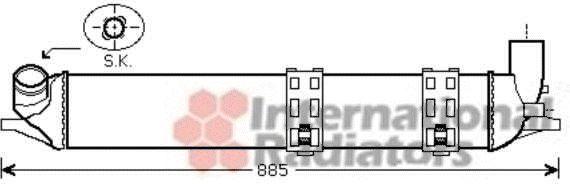 Intercooler, échangeur - VAN WEZEL - 43004463