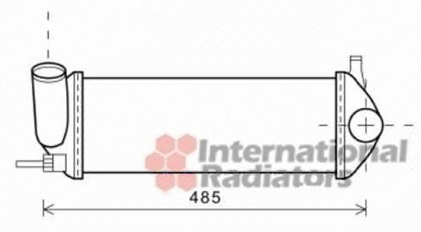 Intercooler, échangeur - VAN WEZEL - 43004471