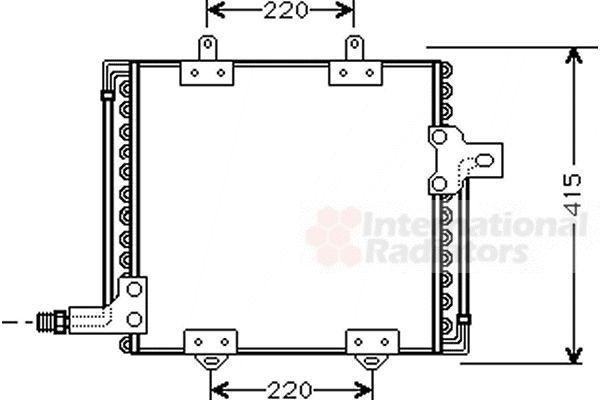 Condenseur, climatisation - VAN WEZEL - 43005181