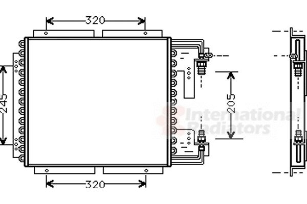 Condenseur, climatisation - VAN WEZEL - 43005187