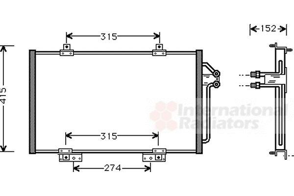Condenseur, climatisation - VAN WEZEL - 43005188