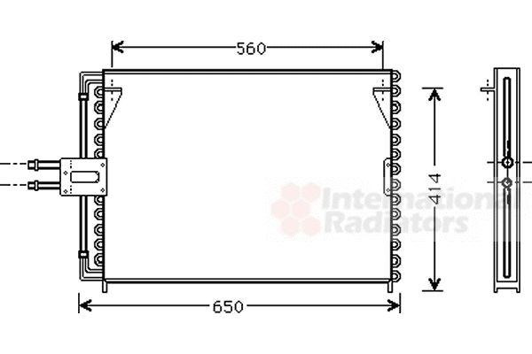 Condenseur, climatisation - VWA - 88VWA43005189