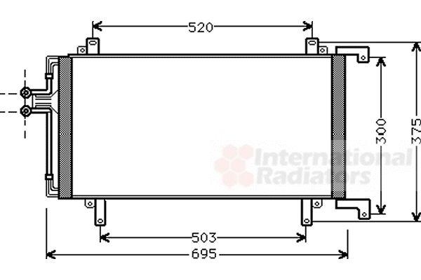 Condenseur, climatisation - VAN WEZEL - 43005196