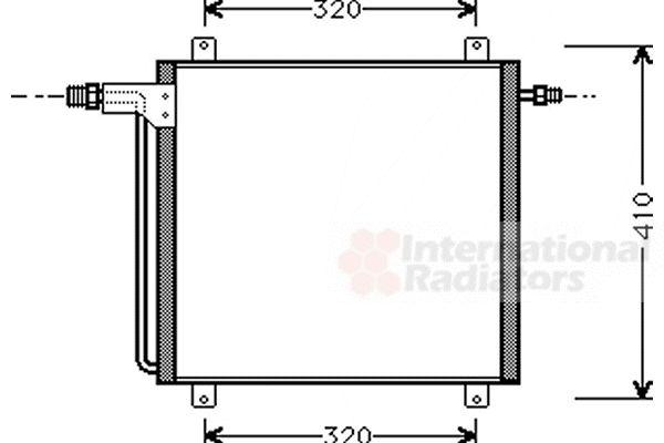 Condenseur, climatisation - VAN WEZEL - 43005200