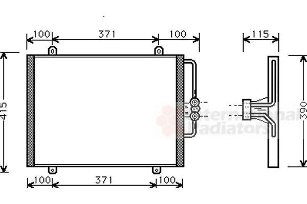 Condenseur, climatisation - VAN WEZEL - 43005201
