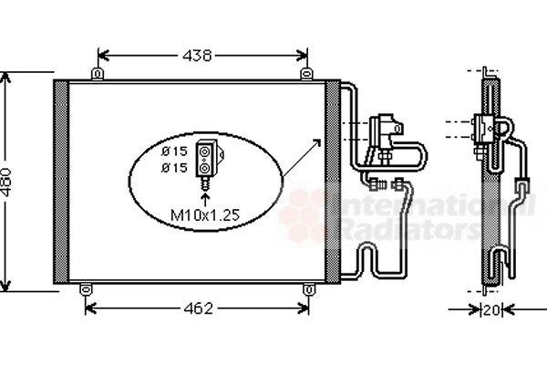 Condenseur, climatisation - VAN WEZEL - 43005204