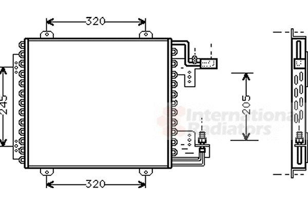Condenseur, climatisation - VAN WEZEL - 43005210
