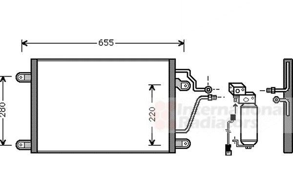 Condenseur, climatisation - VAN WEZEL - 43005211