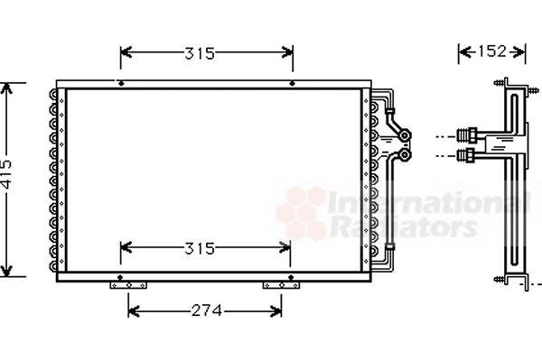 Condenseur, climatisation - VAN WEZEL - 43005214